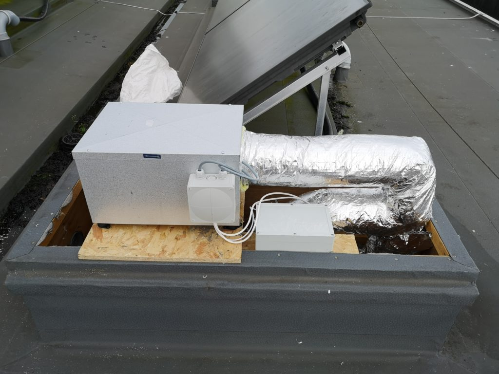 Ventilation Repair - Retrofitted Twinfan unit to roof